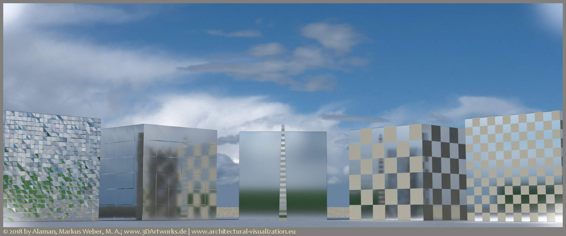Architectural visualization: study on five blocks